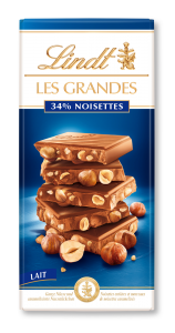 Ciocolata cu lapte cu alune Lindt Les Grandes 150g