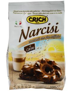 Fursecuri Narcisi cu cacao si orez expandat Crich 300g
