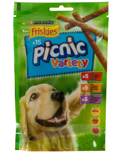 Batoane complementare caine Picnic Variety Friskies 15buc 126g