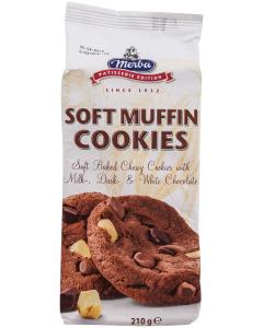 Biscuiti Soft Muffins Cookies Merba 210g