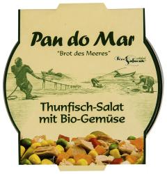 Salata de ton cu legume ecologica Pan do Mar 250g