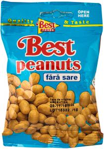 Arahide decojite, prajite, fara sare Best Peanuts 50g