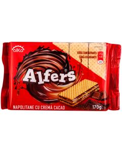 Napolitane cu crema de cacao Alfers 170g