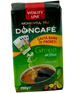 Cafea macinata Doncafe Green Active Vitality Line 250g