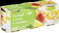 Cocktail de 4 fructe Carrefour 3x212g