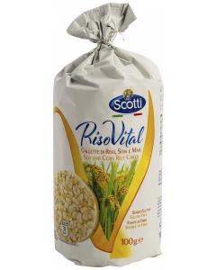 Rice cakes cu soia si porumb Scotti Riso Vital 100g
