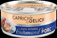 Pate integral de porc Capricii si Delicii Gurmand 115g