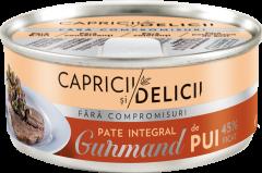 Pate integral de pui Capricii si Delicii Gurmand 115g