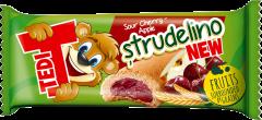 Biscuit cu umplutura de mere si visine Tedi Strudelino 21g