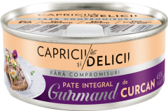 Pate integral de curcan Gurmand Capricii si Delicii  115g
