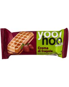 Vafa cu umplutura de capsuni Yoo Hoo 50g