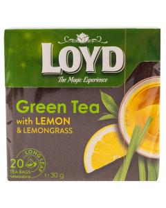 Ceai verde cu lamaie Loyd 20 x 30g