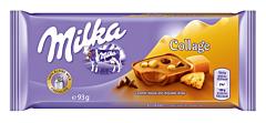 Ciocolata collage cu biscuiti si caramel Milka 93g