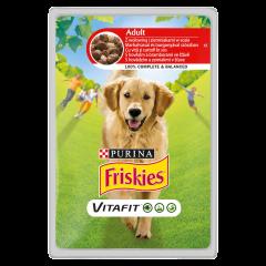 Hrana umeda cu vita si cartof pentru caini Friskies Adult 100g