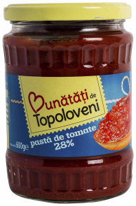 Pasta de tomate 28% Bunatati de Topoloveni 600ml