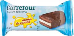 Prajitura cu crema de vanilie Carrefour 35g