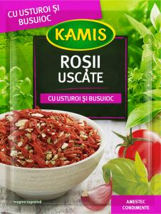Rosii uscate cu usturoi si busuioc Kamis 15g