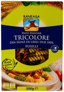 Paste fainoase Tricolore Fusilli Baneasa 500g