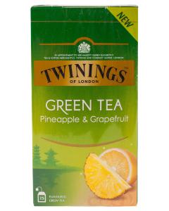Ceai verde cu ananas si grapefruit Twinings 25x1.6g