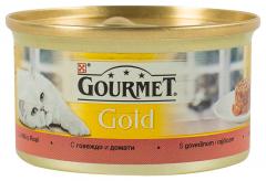 Hrana pisici cu vita si rosii Purina Gourmet Gold 85G
