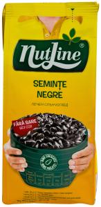Seminte negre de floarea soarelui prajite, fara sare Nutline 200g