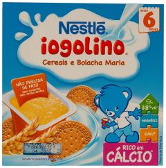 Iogolino gris cu lapte si biscuiti Nestle 4x100g