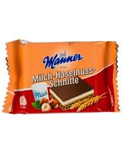 Napolitane cu alune si lapte Manner 25G