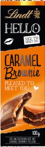 Ciocolata Hello Caramel Brownie Lindt 100g