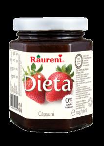 Gem de capsuni dietetic Raureni 220g