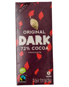 Cicolata Belgiana neagra ecologica 72% cacao Oxfam 100g