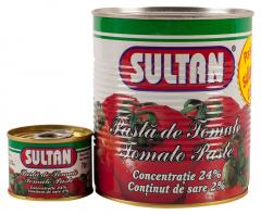Pasta de tomate 800g + 70g Sultan
