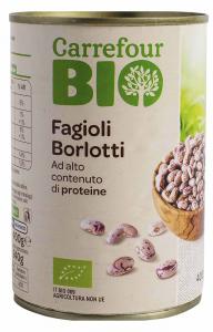 Fasole ecologica Borlotti Carrefour 400G