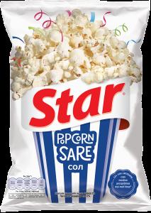 Popcorn cu sare Star 87g