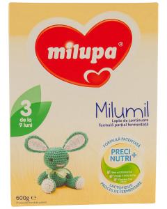 Lapte de continuare Milumil 3 de la 9 luni Milupa 600g