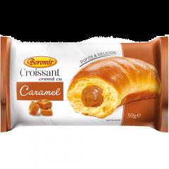 Croissant cu umplutura de crema caramel Boromir 50g