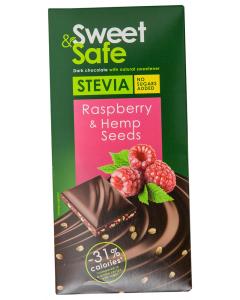 Ciocolata amaruie cu seminte canepa Sweet &Safe 90g