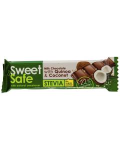 Ciocolata cu lapte Sweet & Safe Quinoa & Coconut 25g