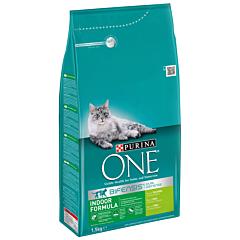 Hrana uscata cu curcan pentru pisici adulte Purina One Indoor 1.5kg