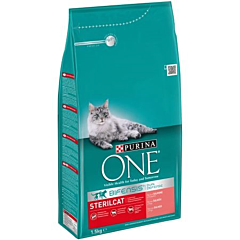 Hrana uscata pentru pisici Purina One, Sterilcat, Somon, 1.5kg