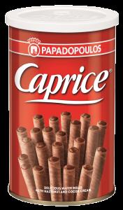 Rulouri napolitana cu crema de alune si cacao Caprice 115g