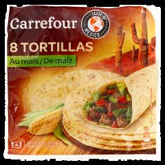 Tortilla din faina de grau si porumb Carrefour 320g