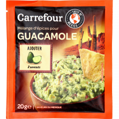 Amestec de asezonare pentru prepararea guacamole Carrefour 20g