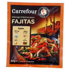 Amestec de asezonare pentru prepararea Fajitas Carrefour 300g