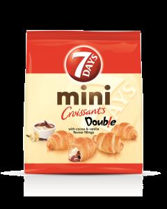Mini croissant cu crema de cacao si vanilie 7days 300g