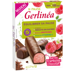 Batoane proteice cu ciocolata si zmeura Gelinea 372g