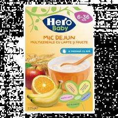 Mic dejun multicereale cu fructe si lapte Hero Baby 225g