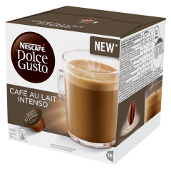 Capsule cafea cu lapte Nescafe Dolce Gusto Cafe au lait Intenso 160g