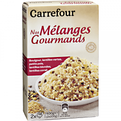Mix bulgur, linte si leguminoase Carrefour 2x200g