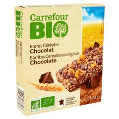 Batoane de cereale cu ciocolata Carrefour Bio 125g