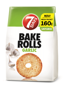 Paine prajita cu usturoi Bake Rolls 7Days 160g